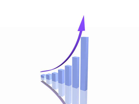 Business Graph Stock Photo - 8136853