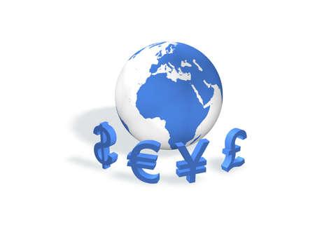 Devises internationales Banque d'images - 8136868