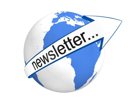 Concept global de Newsletter Banque d'images - 8205561