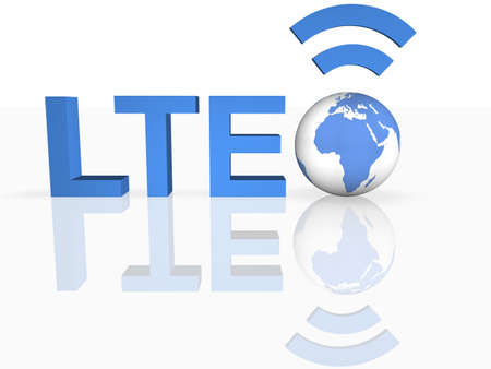 LTE Thechnology Stock Photo