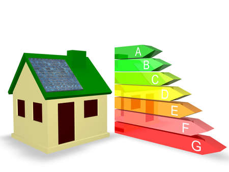 Energy Efficiency Rating Stock Photo - 8205592