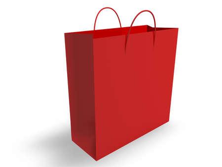 red bag: Shopping Bag  Stock Photo