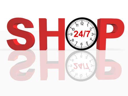 247 Shopping Concept