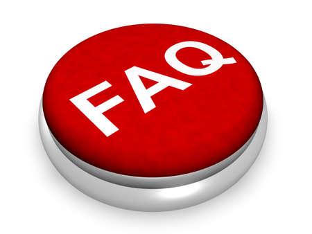 Faq Button Concept  Banque d'images