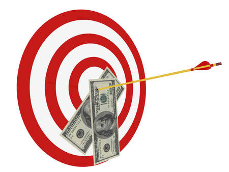 Business Target  Banque d'images