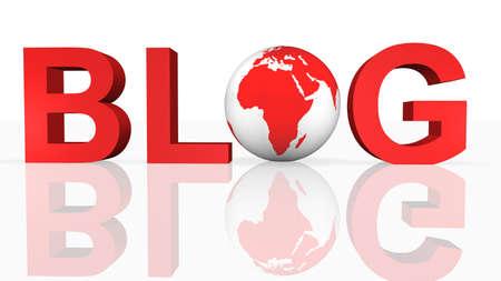 billboard posting: Online Blog Concept  Stock Photo