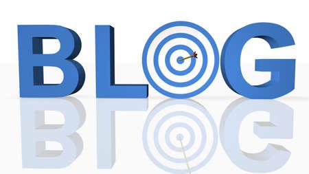 Concept de Blog en ligne  Banque d'images - 8376748