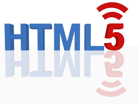 html 5: HTML 5 Concept  Stock Photo