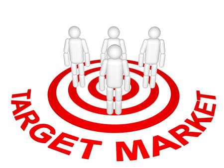 Zielmarkt  Standard-Bild - 8414902
