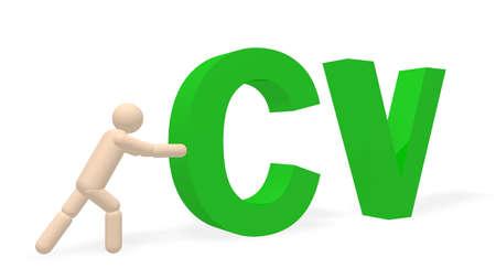 cv: cv concept  Stock Photo