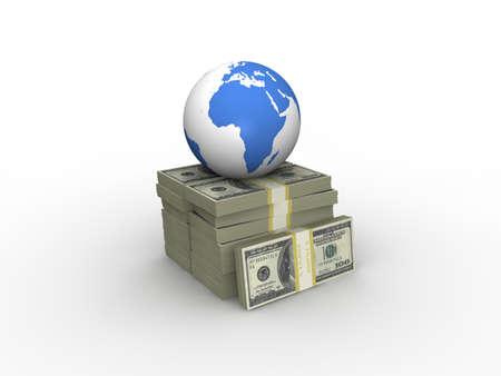 Globe and Money  photo