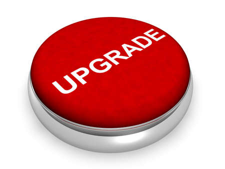 upgrade: Online Upgrade  Stock Photo