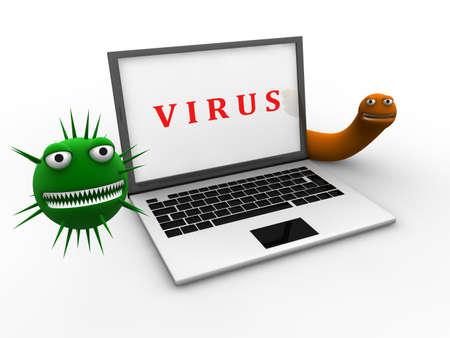 Concept de virus  Banque d'images - 8591341