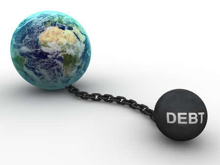 indebtedness: Concetto di debito  Archivio Fotografico
