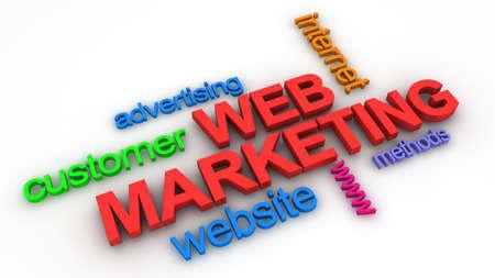 Concept de Marketing Web  Banque d'images - 9016851