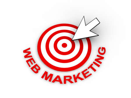 Web Marketing Concept  Stock Photo - 9016846