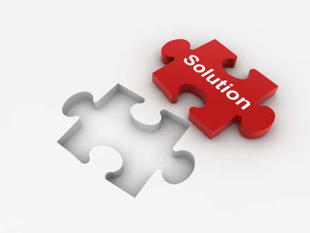 group solution: Puzzle concept  Stock Photo