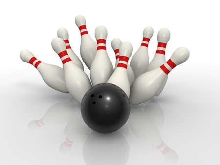 bowling strike: Bowling concept