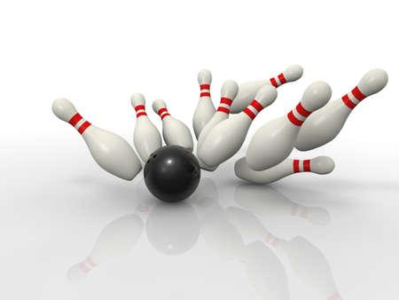 bolos: Bowling concepto