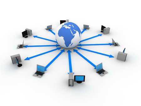 Computer Concept  Banque d'images