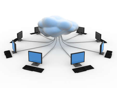 Cloud Computing Concept  Banque d'images - 9387872