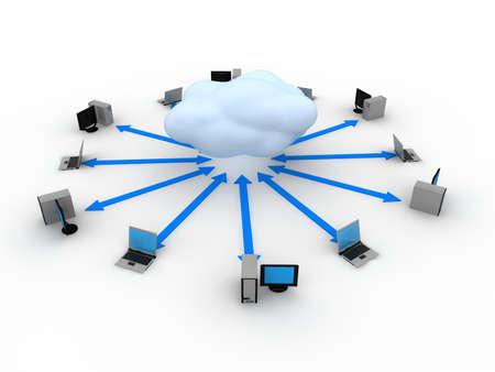 Cloud Computing Concept  Stock Photo - 9387871
