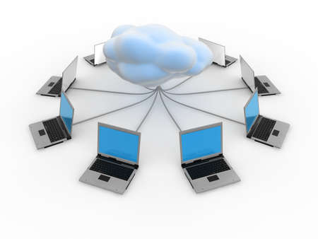 Cloud Computing Concept  Stock Photo - 9387873