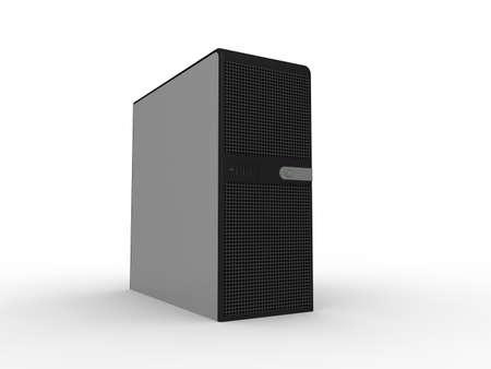 usando computadora: Concepto de servidor  Foto de archivo