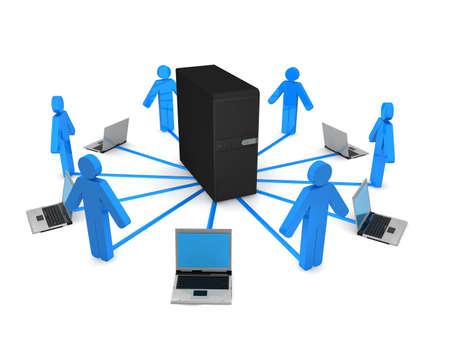 Server concept  Banque d'images