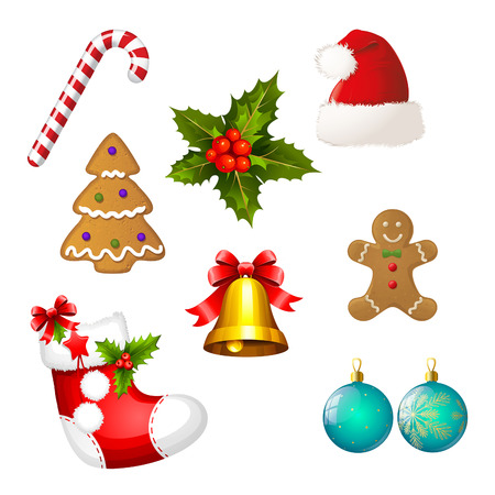 forgiving: Collection of Different Christmas icons - Set of Christams clipart