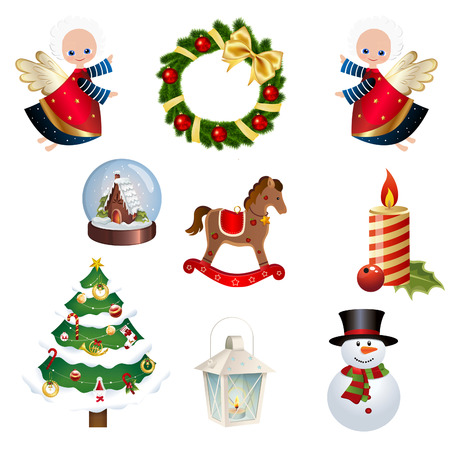 christams: Collection of Different Christmas icons - Set of Christams clipart