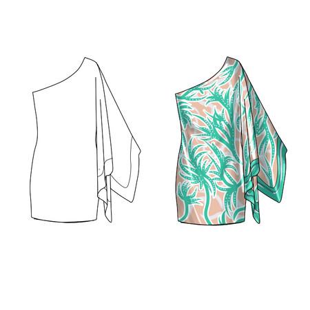 short dress: Mono Shoulder satin short dress