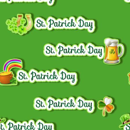 Naadloze patroon - Overal achtergrond - Saint Patrick dag thema achtergrond Stockfoto