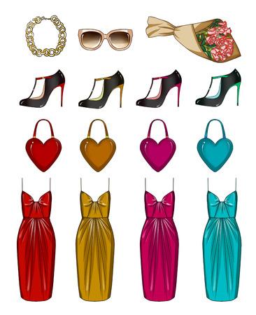 dessin fleur: Mode mis des v�tements et des accessoires de la femme