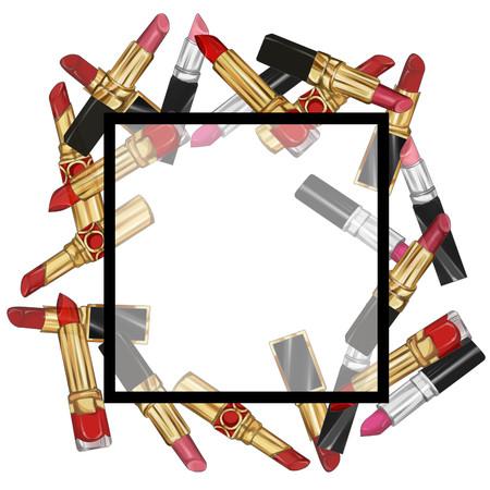 Lipstick frame illustratie