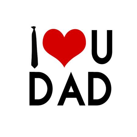 'Ik hou van je vader' vader's dagkaart