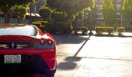 Redmond - June 2012 - Image of a Ferrari Scuderia at the Exotics at Redmond Town Center Reklamní fotografie - 91572777
