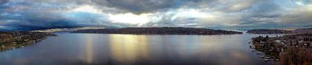 Mercer Island Panorama Stock Photo