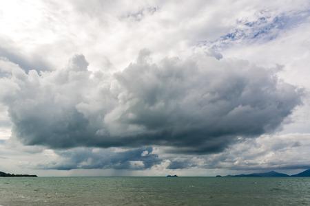 stormy sky: stormy sky over the sea Stock Photo