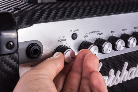 Volume control in a guitar amplifier