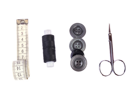 black and white sewing: sewing kit