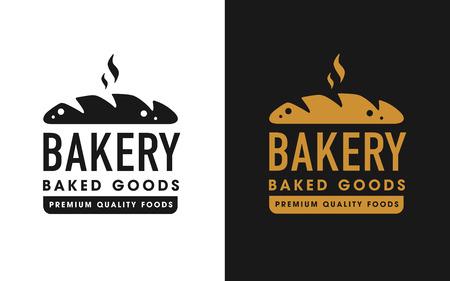 Vintage retro bakery logo badge