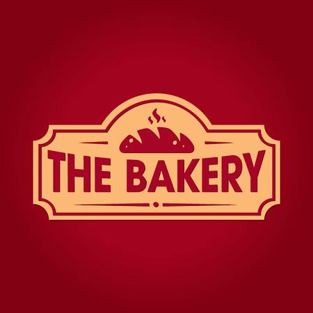 Vintage retro bakery logo badge Standard-Bild - 107708215