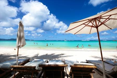 Tropical island sea and sky beautiful blue coast paradise island photo