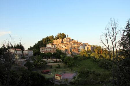 The Maremma in Tuscany - View of an old little village called Gerfalco