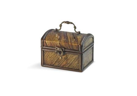 A mysteus old wooden treasure chest  Stock Photo - 19055843