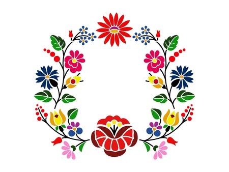 folklore: A beautiful hungarian Kalocsai floral pattern