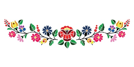 embroider: A beautiful hungarian Kalocsai floral pattern