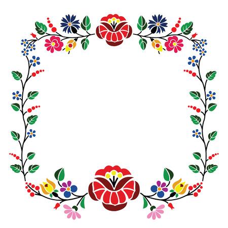 Un beau motif floral Kalocsai hongrois