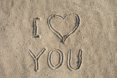 An important message on the sand  photo
